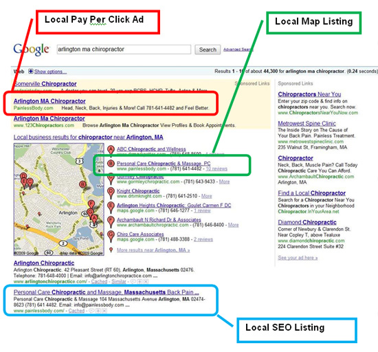 local search marketing maps listings